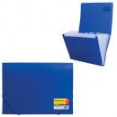 Папка на резинках на 13 отделений пластиковая синяя