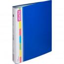 Папка с 60 вкладышами Attache пластиковая, синяя, 0,7мм