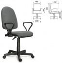 Кресло офисное Престиж, серая ткань