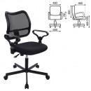 Кресло офисное CH-799M (CH-799AXSN) с подлокотниками, черное