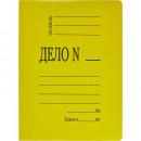 Папка-скоросшиватель Дело картонный желтый