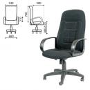 Кресло офисное Chairman CH 727, черная ткань