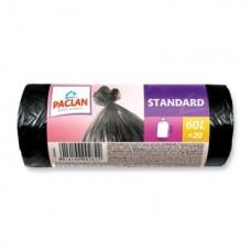 Мешки для мусора 60л 20шт, Paclan STANDART