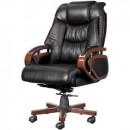 Кресло офисное Echair-408 ML натуральная кожа черного цвета
