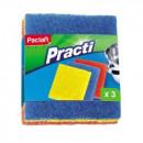 Губки абразивные набор разной жесткости 3 штуки д/ сильных загрязнений Paclan