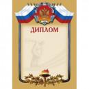 Диплом А4-35/СД крем.фон, герб, триколор