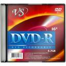 Диск DVD-R  VS 4,7 GB 16x Slim 5 шт/уп