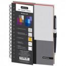 Бизнес-тетрадь А-5 120 лист Regular,3 разд, клетка, серый