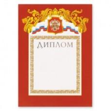 Диплом А4-27/Д бордовая рамка, герб, триколор С