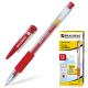 Ручка гелевая Crown/Brauberg Красная с резин. манжетой