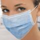 Маски медицинские ИВОЛГА, 3-х слойные на резинке, голубые,100шт
