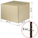 Коробка картонная 600х400х400мм, картон Т22, бурый, 10 шт./у