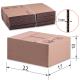 Коробка картонная 220х170х100мм,, картон Т22, бурый, 10 шт./уп