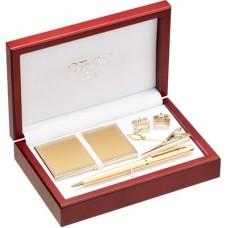 Подарочный набор (ручка, визитница, зажим для галстука, запонки)