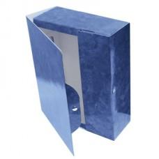Архивный короб 150мм на кнопке ламинир.картон синий мрамор