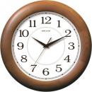 Часы настенные Салют ДС-ББ28-014 круг, белые, деревянная рамка