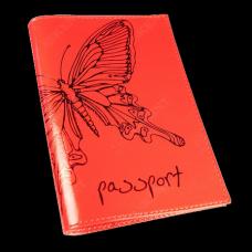 Обложка для паспорта Askent «Райский остров», кожа (красный)