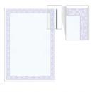 Сертификат-бумага  А-4, 25 листов, голубая сеточка