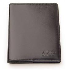 Бумажник водителя Attache черный кожа