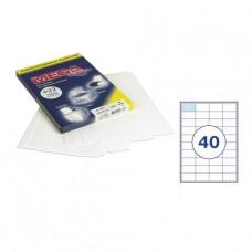 Самоклеющиеся этикетки 52, 5х29,7 (40шт на А4) 100л