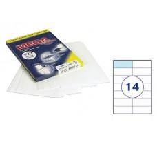 Самоклеющиеся этикетки 105х42,4мм (14шт на листе) 100л