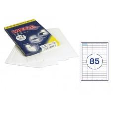 Самоклеющиеся этикетки 38*16,9 (85шт, А4) 100л