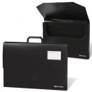 Портфель пластиковый на 1 отд А-3  450*315*60мм, черный