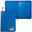 Папка на молнии А-4 Стандарт прочный матовый пластик синяя