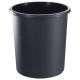 Корзина для бумаг 18л. сплошная черная