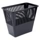 Корзина для мусора 12л прямоугольная, сетчатая,черная