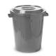 Бак пластиковый 60л с крышкой, серый