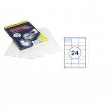 Самоклеющиеся этикетки 70*35 (24 шт на А-4) 100 л