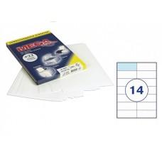 Самоклеющиеся этикетки 105*42,4 (14 шт на А-4) 25