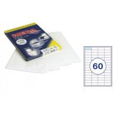 Самоклеющиеся этикетки 38*23,5 (60шт на А-4) 100 л
