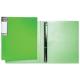 Папка на 4-х кольцах Хатбер, Неоново-зеленая, 25мм,0,9мм