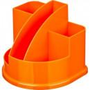 Подставка для канцелярских мелочей Attache Fantasy ,5 отделений ,оранжевая