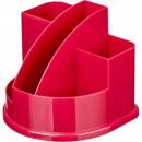 Подставка для канцелярских мелочей Attache Fantasy ,5 отделений ,розовая