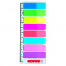 Закладки набор KORES-8цв.по 15л.12х45мм двухцветные