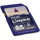 Карта памяти Kingston SDHC 16GB SD4/16GB Class 4