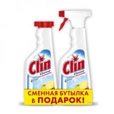 Ср-во д/стекол с тригером Clin 500 мл + запасной флакон 500