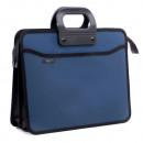 Портфель на 4 отд А4+ 390*320, усилен. ручка, синий