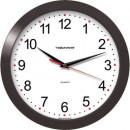 Часы настенные Troyka 11100112 круг плав.ход пластик темный