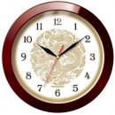 Часы настенные Troyka 11131190 круг-корич, плав.ход пластик