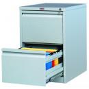 Шкаф картотечный металлический Практик AFC-02 для документов А4 (2 отделения, 470x630x713 мм)