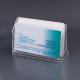Подставка для визиток пластик, 100*40*65мм, на 50 визиток,прозрачн
