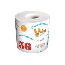 Бумага туалетная 1-сл.Сыктывкарская,56 белая