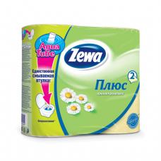 Бумага туалетная Zewa 2-х c ароматом ромашки (4шт)