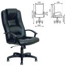 Кресло офисное Лагуна, T-9906AXSN, кожа, черное