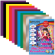 Цветная бумага  А-4 16л/10 цветов+2 доп цвета двухстороняя