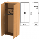 "Шкаф для одежды ""Этюд"", 800х384х1942мм, цвет бук бавария"